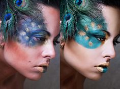 Why doesn't your outrageous/costume make-up look as awesome as it does in magazines? Photoshop.