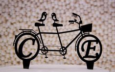 Wedding Cake Topper Bicycle for Two with by CakeTopperConnection, $28.95