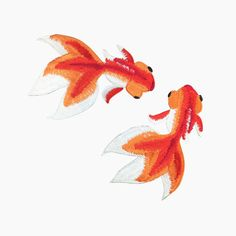 gold fish embroidered patch iron on patch embroidered badge sew on patch cute…
