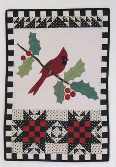 Cardinal wall quilt pattern from A Baker's Dozen: 13 Kitchen Quilts from American Jane by Sandy Klop