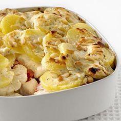 Ovenschotel met witvis en Boursin Cuisine