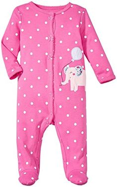 Carters Baby Girls Footie 115g063 Elephant 9 Months * Click image to review more details.