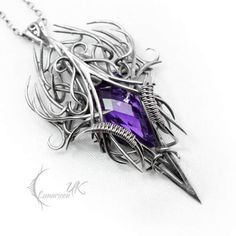 Gothic Necklace by Lunarieen  Check us out on Fb- Unique Intuitions #uniqueintuitions #gothic #gothicjewelry