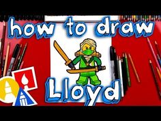 awesome How To Draw Lloyd From Ninjago Art For Kids Hub, Art Hub, Lego Coloring Pages, Arts And Crafts, Paper Crafts, Diy Crafts, Pokemon, Halloween Crafts For Kids, Lego Ninjago