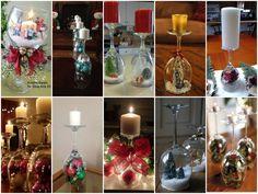 Wonderful DIY Stemware Snow Globes Candle Holder   WonderfulDIY.com