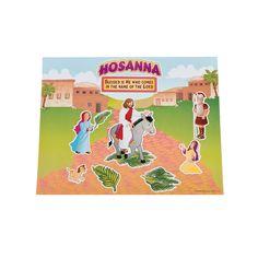 Hosanna Triumphant Sticker Scenes - OrientalTrading.com