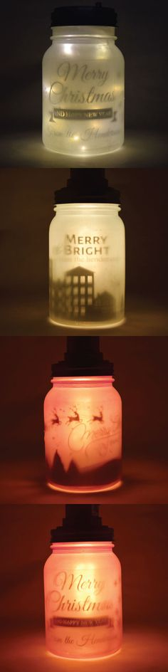 Cute and useful Christmas holiday gift ideas that you can give to your family and friends! These mason jars are personalized and you can add your own name or message. We just love these mason jars!  When lighted, it looks so magical and lovely
