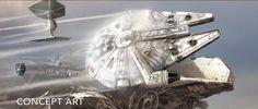 Star Wars The Force Awakens VFX Breakdown : Falcon Escapes Jakku