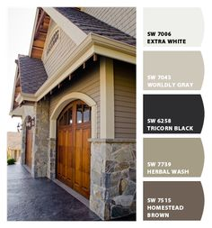 Best Exterior Paint Colors For House Country Dark Ideas House Exterior Color Schemes, Exterior Paint Colors For House, Paint Colors For Home, Siding Colors For Houses, Craftsman Exterior Colors, Exterior Siding, Exterior Design, Outside House Colors, House Paint Color Combination