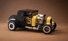 Office favourite and regular bloggee _Tiler has returned with another beautifully photographed hot rod, this time loosely based on the official LEGO 75875 Ford Model A set, only with much, much mor…