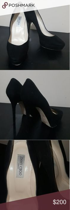 JIMMY CHOO suede platform heels 100% authentic European size 40 fits like a us women's size 9.5 Great condition regular wear no box includes dustbag Amazing quality leather  perfect for any occasion  Smoke free home   Tags #chanel #ysl #louboutin #redbottom #saint laurent #jimmy choo #louis vuitton #lv #Gucci #saksfifth #neiman marcus #hermes #fenty #salvatore ferragamo #prada #designer #jeffrey Campbell #fendi #moschino #jeremy Scott #kate spade #Burberry #dolce gabbana #tory burch #marc…