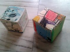 Paper cubes, inspiration: different artists, 5 years old children at Atelier Partage