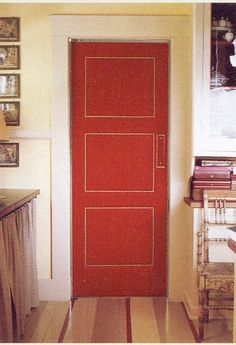Image result for baize covered door