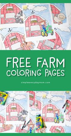 Free Printable Farm Animal Coloring Pages - Free Printable Kids Coloring Pages Farm Theme Crafts, Preschool Farm Crafts, Farm Animals Preschool, Farm Animal Crafts, Farm Activities, Farm Animal Coloring Pages, Preschool Coloring Pages, Coloring For Kids, Free Coloring