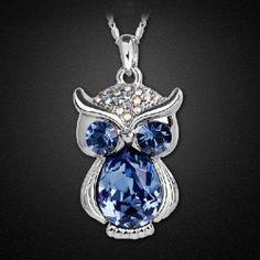 Amazing Owl Shape Crystal Fashion Women's Necklace