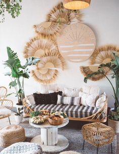 29 Inspiring Bohemian Living Room Ideas For Your Home Chic Living Room, Living Room Decor, Bedroom Decor, Living Rooms, Bedroom Ideas, Wall Decor, Wall Art, Deco Bobo Chic, Home Decoracion