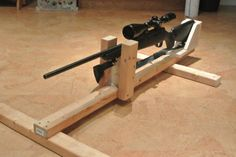 DIY Gun Rest for Zeroing in Scopes
