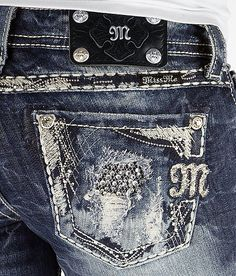 Miss Me Blowout Boot Stretch Jean.  One day I will fit in a pair..maybe by Christmas!!! Bling Jeans, Miss Mes, Miss Me Jeans Buckle, Buckle Jeans, Women's Jeans, Cute Jeans, Jeans Leggings, Rock Revival, Peanut Butter Ice Cream