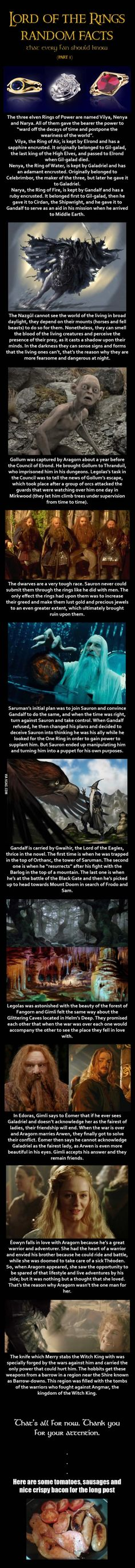 Here are some Lord of the Rings random facts (Part 3)