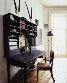 """I imagine Dr. Livingstone writing at this desk... Just needs an ink pot and a nice 24"""" monitor for the computer."""