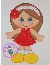 Resultado de imagen para moldes de niñas en foammy