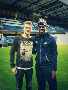 The Hawks Dennis Schroder with Chelsea FC's Andre Schurrle!