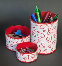 Reciclar latas vacías de conserva para organizar tu escritorio