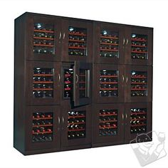 Trilogy Quad Wine Cellar (Espresso) at Wine Enthusiast - $5980.00