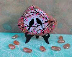 PINTADA piedra playa / arte de piedra / pintada por NatureParadise: