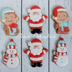 Christmas Monkeys, Santa & Snowmen Cookies
