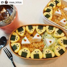 "Make everyone smile with "" rice balls"" ♪ - Delicious - Bento Cute Food, Yummy Food, Bento Box Lunch For Kids, Kawaii Cooking, Food Business Ideas, Food C, Cute Bento, Bento Recipes, Japanese Food"
