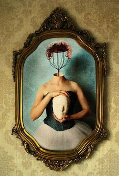 Wire whip girl is empty in the head, her face is sweet meringue. By Ariadna Vicente Creative Photoshop, Art Thou, Illusion Art, Oeuvre D'art, Photo Manipulation, Illusions, Fantasy Art, Illustration Art, Illustrations