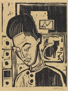 Ernst Ludwig Kirchner, Knabenkopf Andreas, 1924