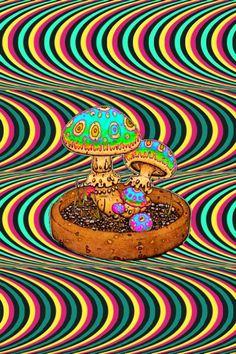Acid Trip Art, Acid Art, Hippie Wallpaper, Trippy Wallpaper, Phycadelic Art, Trippy Mushrooms, Trippy Pictures, Trippy Drawings, Trippy Painting