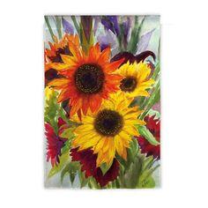 Evergreen Flag & Garden Sunflower Explosion Garden Flag