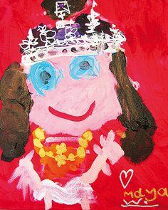 Portrait of Queen Elizabeth II by Maya Woolf, third prize, 0-7 years category