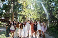 eclectic bridesmaids outfits. boho bridesmaids. unique wedding photographer. authentic wedding photography denver, colorado.