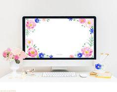 Floral watercolor computer wallpaper download - www.awatercolorlife.com