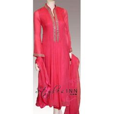 Pink Anarkali Outfit With Fabulous Embroidery - StylesInn (Pakistani Designers Wear)