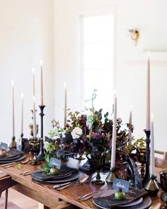 "750 Likes, 7 Comments - Wilkie | Wedding Blog (@wilkieblog) on Instagram: ""This gothic-inspired table has left us speechless : @lynnbagley | : @kimberlyrosefloraldesign…"""