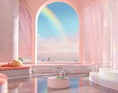 Dreamscapes Artificial Architecture - Imagined interior design in digital art - gestalten Architecture Design, Vintage Architecture, Architecture Diagrams, Image Deco, Aesthetic Rooms, Peach Aesthetic, Retro Futurism, Dream Rooms, Aesthetic Pictures