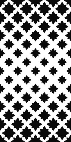 Monochrome seamless stylized floral pattern