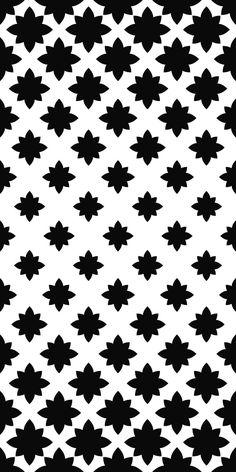 Monochrome seamless stylized floral pattern