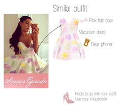 """""""Ariana Grande similar outfit"""" by yooldazhz ❤ liked on Polyvore"""