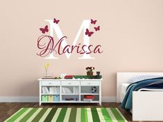 Butterfly Name Decal Wall Decal  Butterfly Wall by NewYorkVinyl