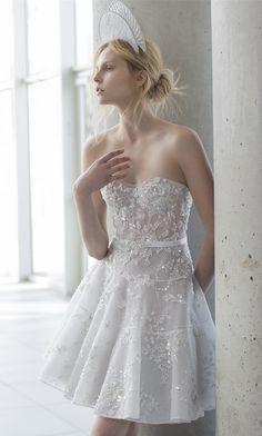 Mira Zwillinger short wedding dresses 2016 stardust bridal Allisia