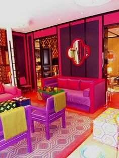 One of my design icons form England David Hicks home in France. One of the early designers working in bold colors.He influenced Kelly Werstler, Jonathon Adler, Miles Redd, Jamie Drake and Mary McDonald all working today. All of these designers are influences of mine.