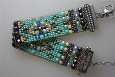 Turquoise & Blue Beaded Bracelet by Chili Rose