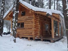 The Best Aspects of Log Cabin Kits - Modern Survival Living Log Cabin Living, Small Log Cabin, Tiny Cabins, Little Cabin, Tiny House Cabin, Log Cabin Homes, Cabins And Cottages, Cozy Cabin, Log Cabins