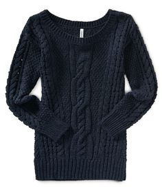 Solid Cable Sweater from Aeropostale - I live in cable sweaters all winter.